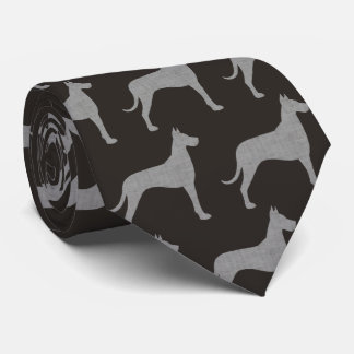 Great Dane Silhouettes Pattern Neck Tie