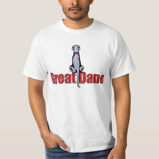 Great Dane Sit Blue UC T-Shirt