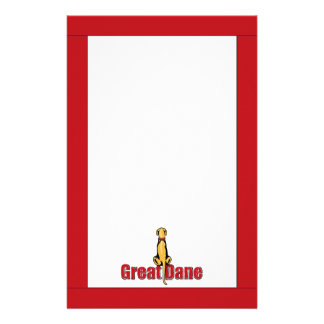 Great Dane Sit Fawn UC Stationery