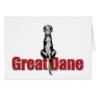 Great Dane Sit Merle UC Card