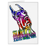 Great Dane Slop Happens Bright Greeting Cards