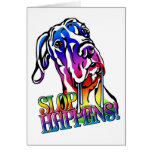 Great Dane Slop Happens Bright UC Greeting Cards