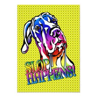Great Dane Slop Happens Bright UC Personalized Announcement