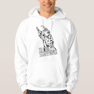 Great Dane Slop Happens BW Hooded Pullover