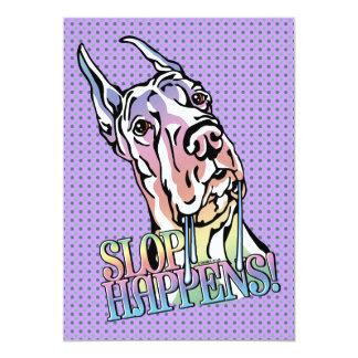 Great Dane Slop Happens Pastel Card