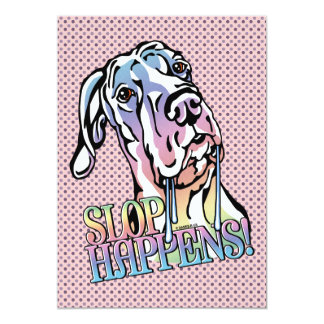 Great Dane Slop Happens Pastel UC Card