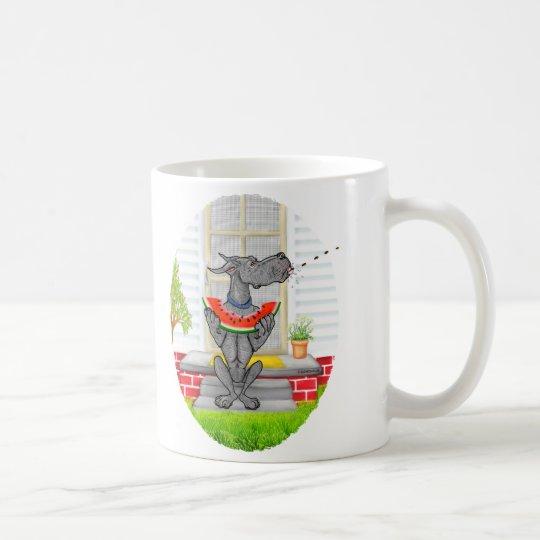 Great Dane SPIT Black Coffee Mug