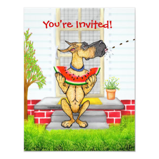 Great Dane SPIT Fawn Card