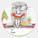 Great Dane SPIT Harlequin Classic Round Sticker