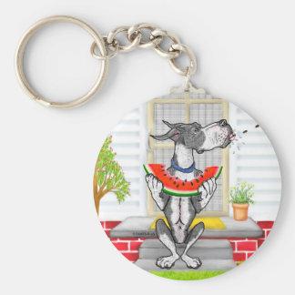 Great Dane SPIT Mantle Basic Round Button Keychain
