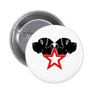 Great Dane Star Head Pinback Button
