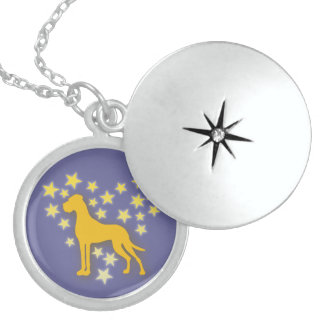 Great Dane Starheart Round Locket Necklace