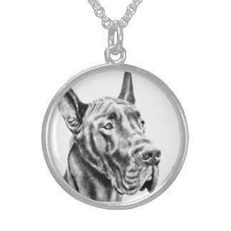 Great Dane Sterling Silver Necklace