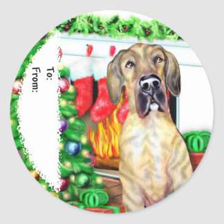 Great Dane Stockings Brindle UC Gift Tags