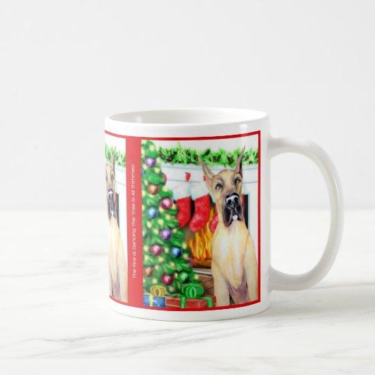 Great Dane Stockings Fawn Coffee Mug