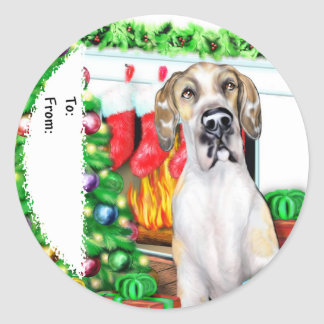 Great Dane Stockings Fawnequin UC Gift Tags