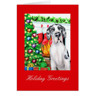 Great Dane Stockings Harlequin UC Card