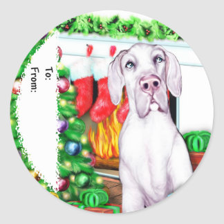 Great Dane Stockings White UC Gift Tags