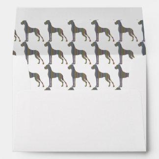 Great Dane stripes Envelope