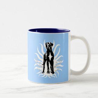 Great Dane Stud Two-Tone Coffee Mug