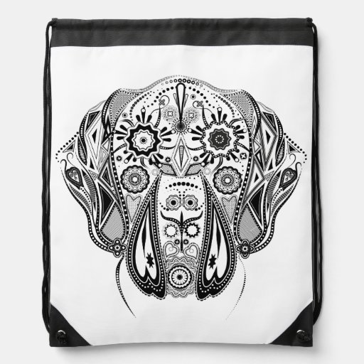 great dane tattoo drawstring bag zazzle. Black Bedroom Furniture Sets. Home Design Ideas
