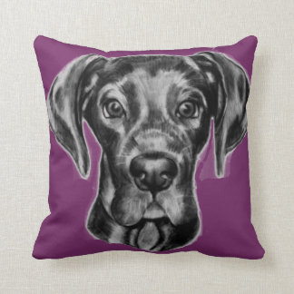 Great Dane throw Pillow two colors