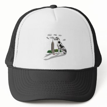 Beach Themed Great Dane Trucker Hat