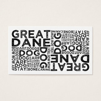 Great Dane Typography Business Card
