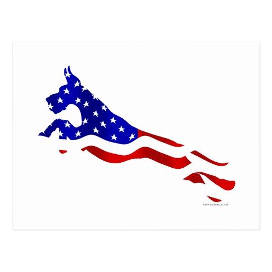 Great Dane USA Flag Jumper Postcard