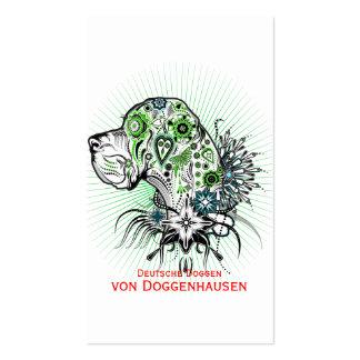 Great dane verdoso tarjetas de visita