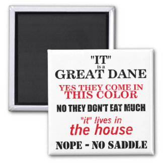 Great Dane Walking Answers 2 Inch Square Magnet