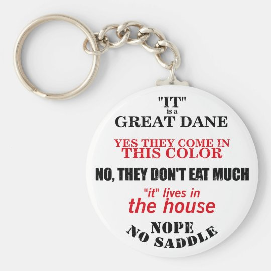 Great Dane Walking Answers Keychain