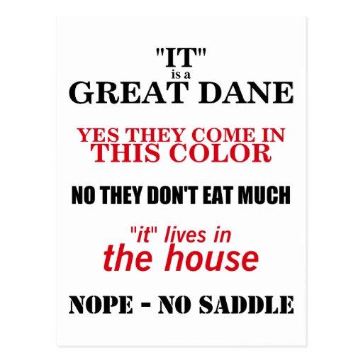 Great Dane Walking Answers Postcard
