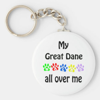 Great Dane Walks Design Keychain