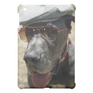 Great Dane wearing hat and sunglasses iPad Mini Cases