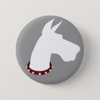 Great Dane (white) Silhouette - Button