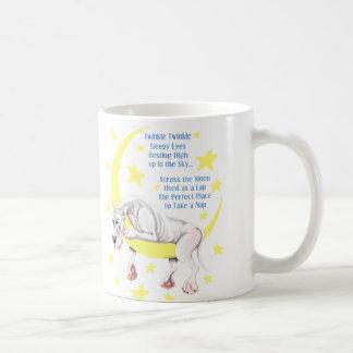 Great Dane White Twinkle Coffee Mug