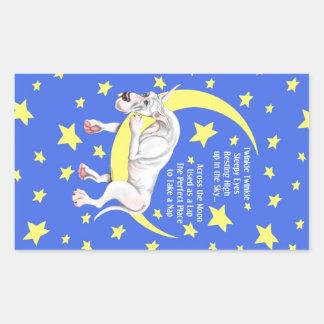 Great Dane White Twinkle Sticker