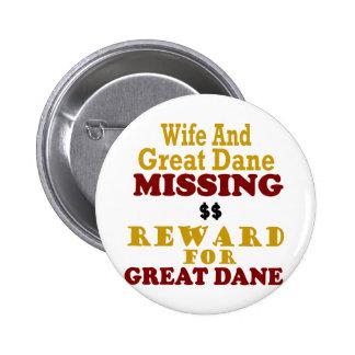 Great Dane & Wife Missing Reward For Great Dane Button