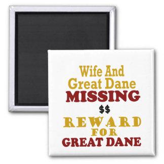 Great Dane Wife Missing Reward For Great Dane Magnets