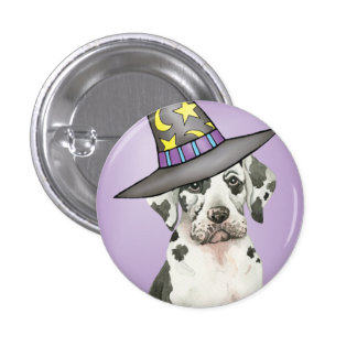 Great Dane Witch Button