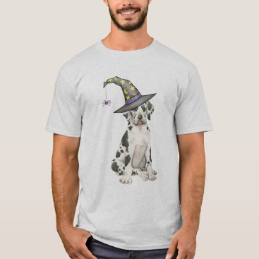 Halloween Themed Great Dane Witch T-Shirt
