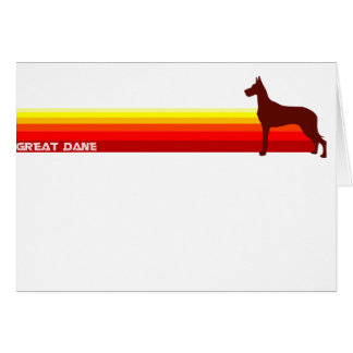 Great Dane With Stripes Card