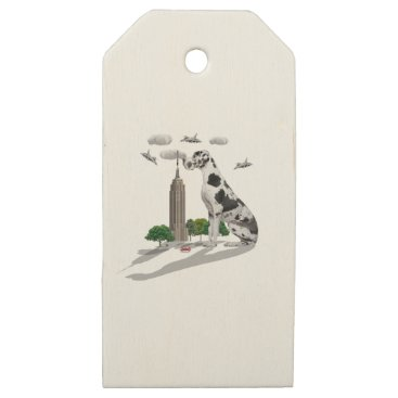 Beach Themed Great Dane Wooden Gift Tags