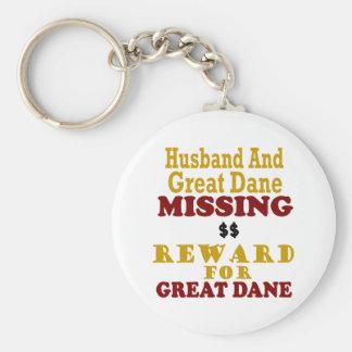 Great dane y recompensa que falta del marido por g llavero