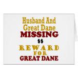 Great dane y recompensa que falta del marido por g felicitación