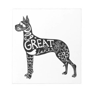 Great Danes are GREAT! Memo Note Pads