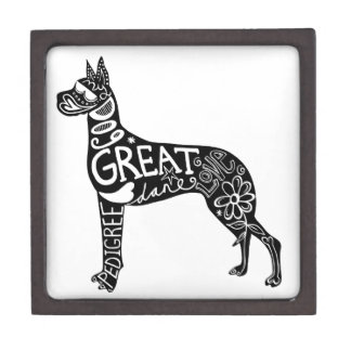 Great Danes are GREAT! Premium Jewelry Boxes