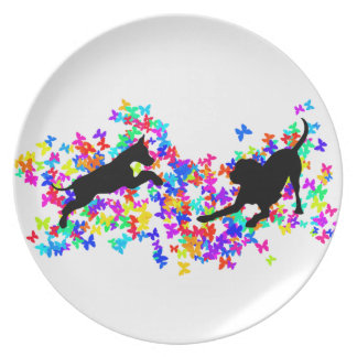 Great Danes at Play Party Plate