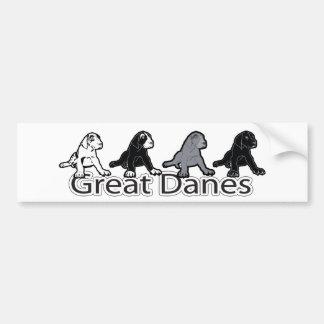 Great Danes Car Bumper Sticker